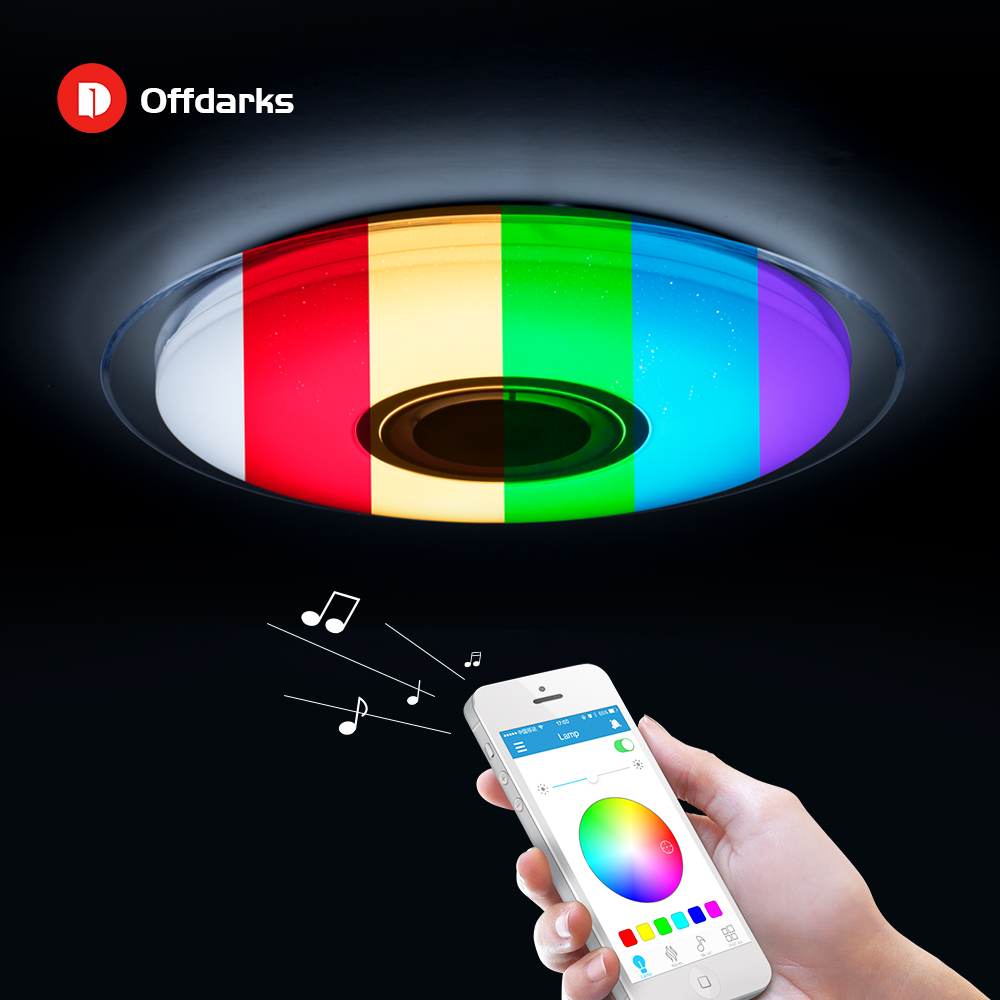 Luces de techo led modernas RGB regulables 25W 36W 52W aplicación remota control Bluetooth música luz vestíbulo dormitorio lámpara de techo