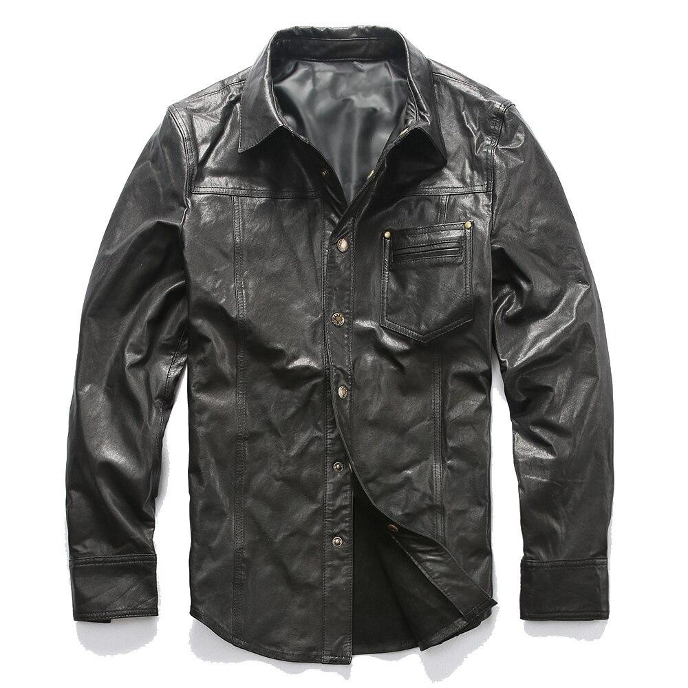Read Description! Asian Size Men's Suede Leather Outwear Mens Goat Leather Jacket