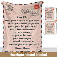 New Premium Blanket To My Daughter Son Durable High Quality Comfortable For Home Baby Blanket Drop Shipping