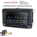 Twee Din Auto Multimedia Speler Android 10 Auto Radio Voor Skoda/Seat/Volkswagen/Passat/Polo/ golf Dvd Gps 4 Cores