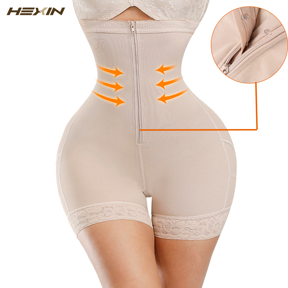 HEXIN Shapewear Butt lifter Workout Waist Trainer Corset Tummy Control Panties Plus Size Booty Lift Pulling Underwear Body Shape