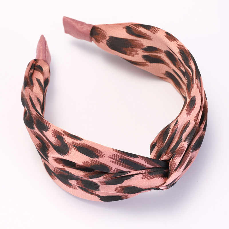Модная леопардовая повязка на голову, осенняя привлекательная повязка на голову 7 см с бантом для женщин, аксессуары для волос