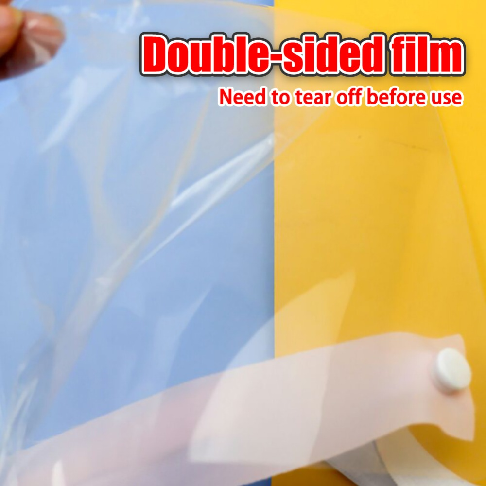 4/10PCS Clear Face Cover with Double-Sided Film and Adjustable Headband to Protect Full Face 7