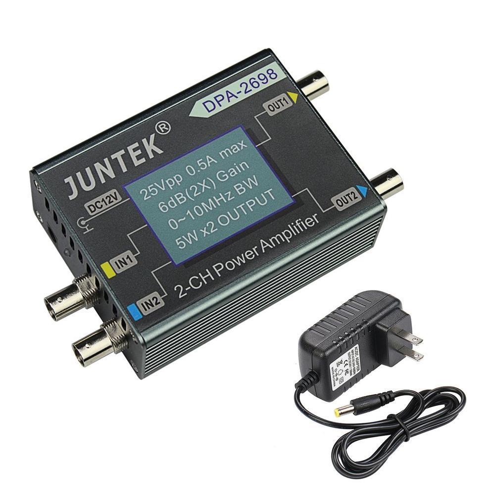 DPA-2698 High Power Dual Channel DDS Function Signal Generator Power Amplifier DC Power Amplifier 0-10MHz EU/US Plug