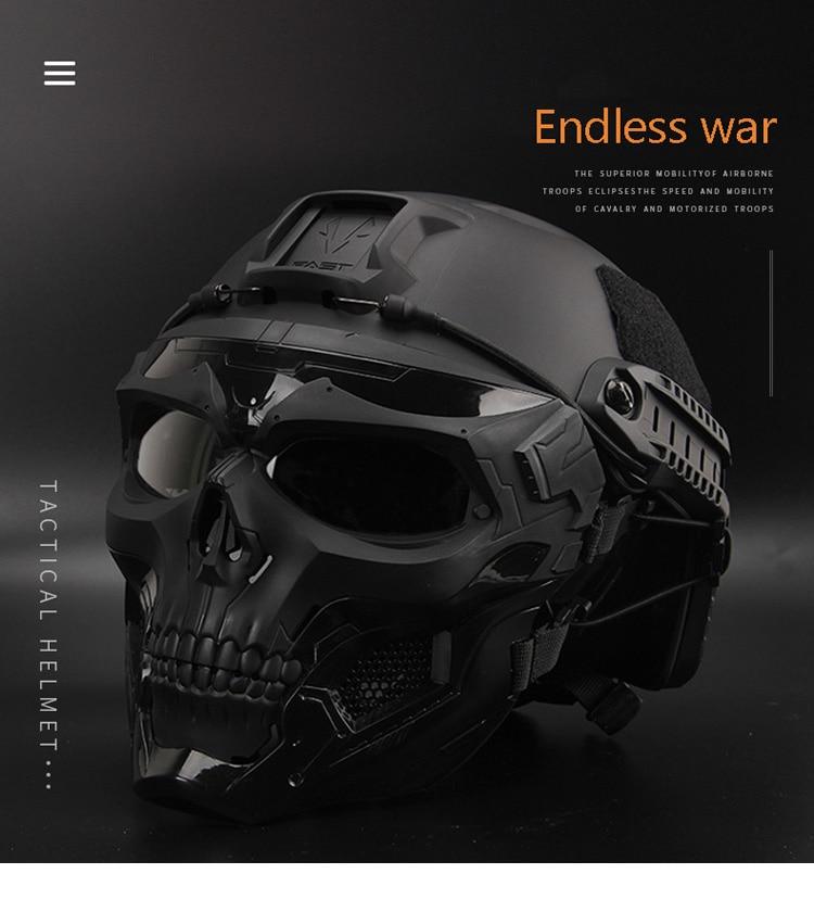 Details about  /Paintball Riding Bulletproof Helmet Bulletproof Skull Mask Lightweight 2021 New
