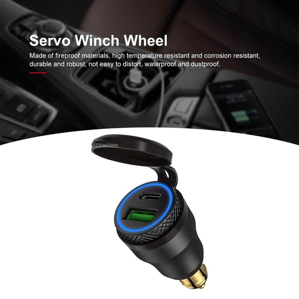 Blue Cllena DIN Hella Powerlet Plug to Quick Charge 3.0 USB Charger /& Type C Power Delivery Adapter for BMW Motorcycle