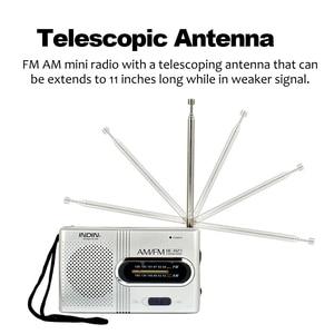 Image 5 - BC R21 Mini Portable Radio AM FM Radio Adjustable Telescopic Antenna Pocket Radios Built in Speakers 3.5mm Headphone Jack