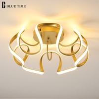 LED Modern Ceiling Lights For Bedroom Living Room Dining Room Goldenk&White Finished Lustre Indoor Lighting LED Ceiling Lamps