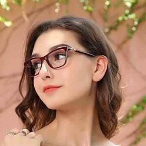 Image 1 - Myopie Gläser Rahmen Frauen Blau licht blockieren Gläser Vintage Computer Brillen Diamant Optische Brillen oculos OCCI CHIARI