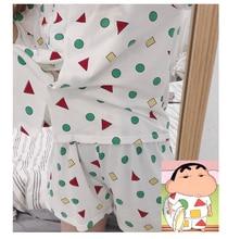 Women Pajama Set Bangtan Boys Kpop Harajuku Cartoon Printed Kawaii Pyjamas Korean Japanese Kawaii Pijama Mujer Cotton Sleeepwear