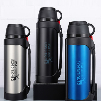 Vacuum Stainless Steel Insulation Cup Men Portable Large Capacity Thermos Bottle Outdoor Vacuum Coffee Thermos Camping HH50BW