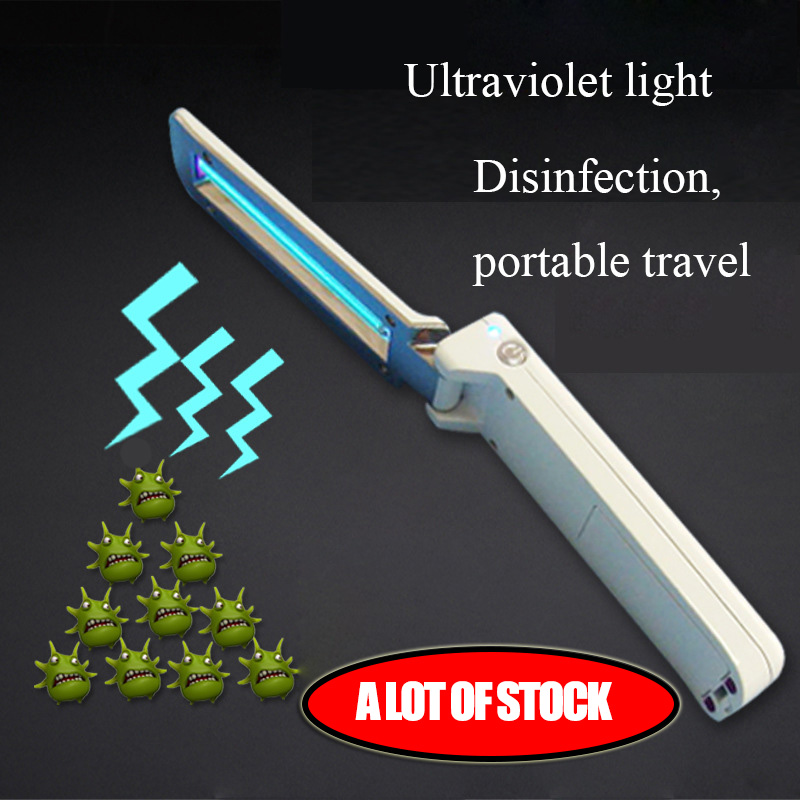 UV Sterilizer Light Tube Bulb Disinfection Bactericidal Lamp Ozone Sterilizer Mites Lights Rechargeable Ultraviolet