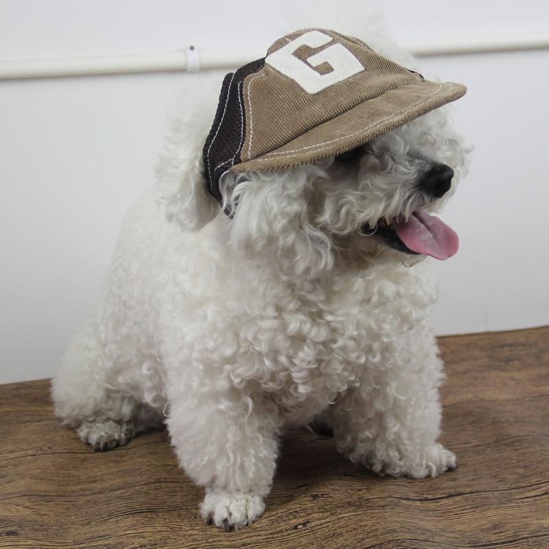1 pièces en plein air chiot chapeau pour animaux de compagnie accessoires pour petits chiens mignon Alphabet chien casquette réglable Baseball animaux chapeaux été,. # s