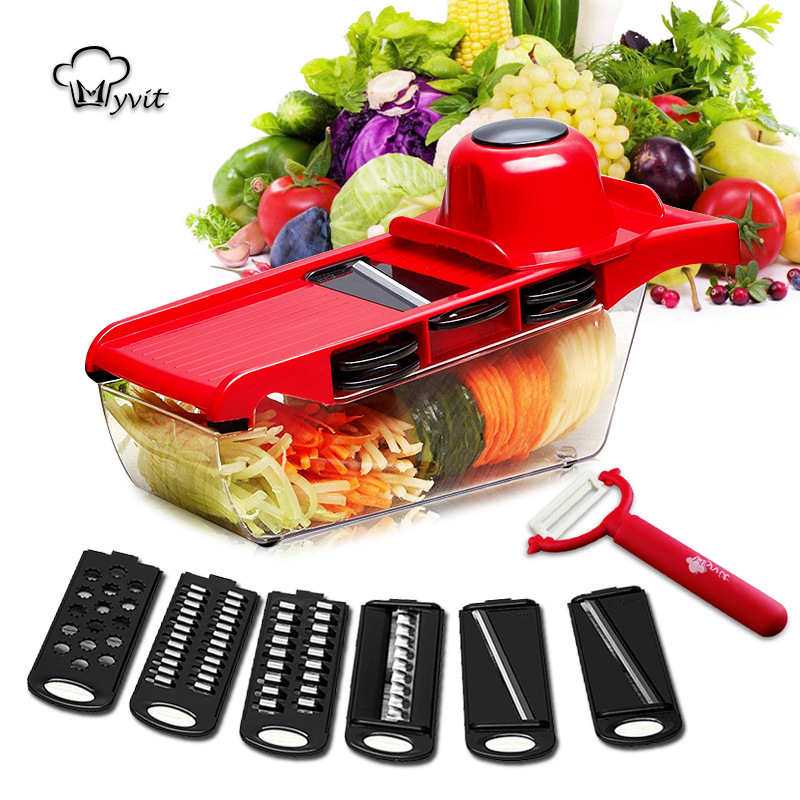 Multifunction stainless Vegetable Cutter Slicer Hand Protection Chopper Shred  Stainless Kitchen Accessories Tools