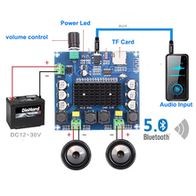 2*100W TDA7498บลูทูธ5.0ระบบเสียงดิจิตอลDual Channel Class DสเตอริโอAux AmpถอดรหัสFLAC/APE/MP3/WMA/WAV
