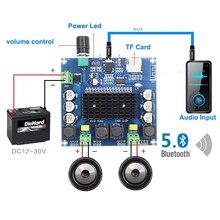 2*100W TDA7498 Bluetooth 5.0 dijital ses amplifikatörü kurulu çift kanal D sınıfı Stereo Aux Amp dekore FLAC/APE/MP3/WMA/WAV