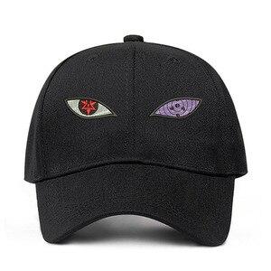 New Anime Naruto Uchiha Sasuke Sharingan & Rinnegan Eye Cotton Cap Baseball Cap For Men Women Hip Hop Streetwear Dad Hat(China)