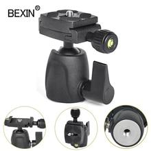 BEXIN mini ballhead بانورامية صور ترايبود monopod رئيس كاميرا الكرة جبل لكانون نيكون سوني DSLR كاميرا مع لوحة النار السريع