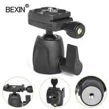 BEXIN mini ballhead panoramic photo tripod monopod head camera ball mount for Canon Nikon Sony DSLR Camera with quick shot plate