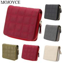 Women Short Wallets PU Leather Female Plaid Purses Nubuck Card Holder Women Wallets Zipper Clutch Matte Coin Purse Card Holders aequeen women wallets pu leather short purse bowknot wallet ladies coin purses womens clutches brand new bow lock card holders