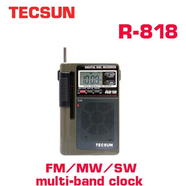 TECSUN R 818 FM/MW/SW רדיו כפול המרה העולם בנד רדיו מקלט עם Built רמקול אינטרנט רדיו Portatil