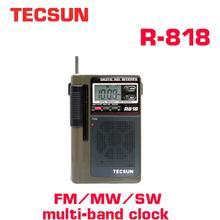 TECSUN R 818 FM/MW/SW راديو مزدوج التحويل العالمي الفرقة راديو استقبال مع المدمج في مكبر الصوت راديو الإنترنت المحمولة