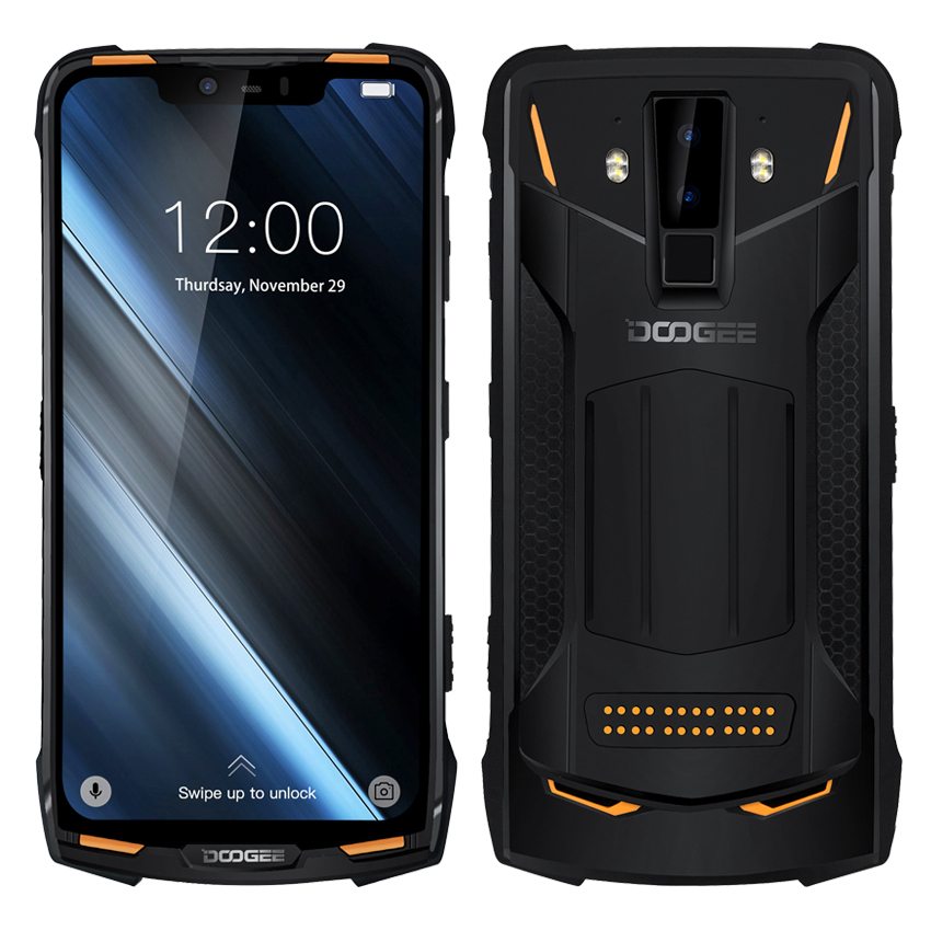 DOOGEE S90 NFC IP68 shockproof mobile phone 6GB +128GB 5050mAh android 8.1 6.18'' Helio P60 Octa Core 16MP 4G Rugged Smartphone