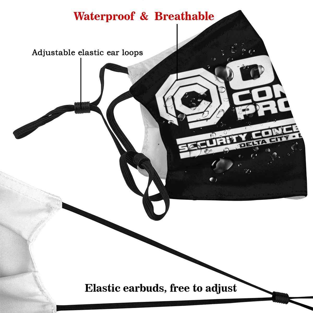 Новинка, научно-фантастическая пленка RoboCop OCP со сменными фильтрами, маска для рта Муфельная Пылезащитная Крышка для рта