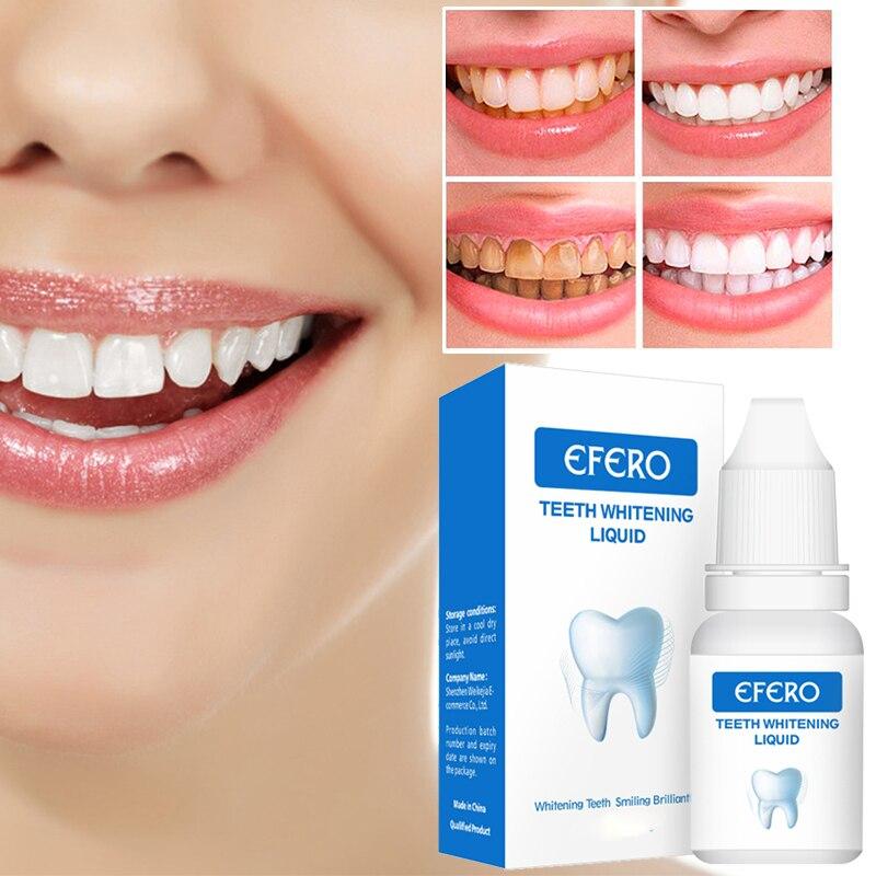 EFERO שיניים הלבנת סרום ג 'ל שיניים היגיינת פה יעיל להסיר כתמי פלאק שיניים ניקוי מהות טיפול משחת שיניים TSLM2