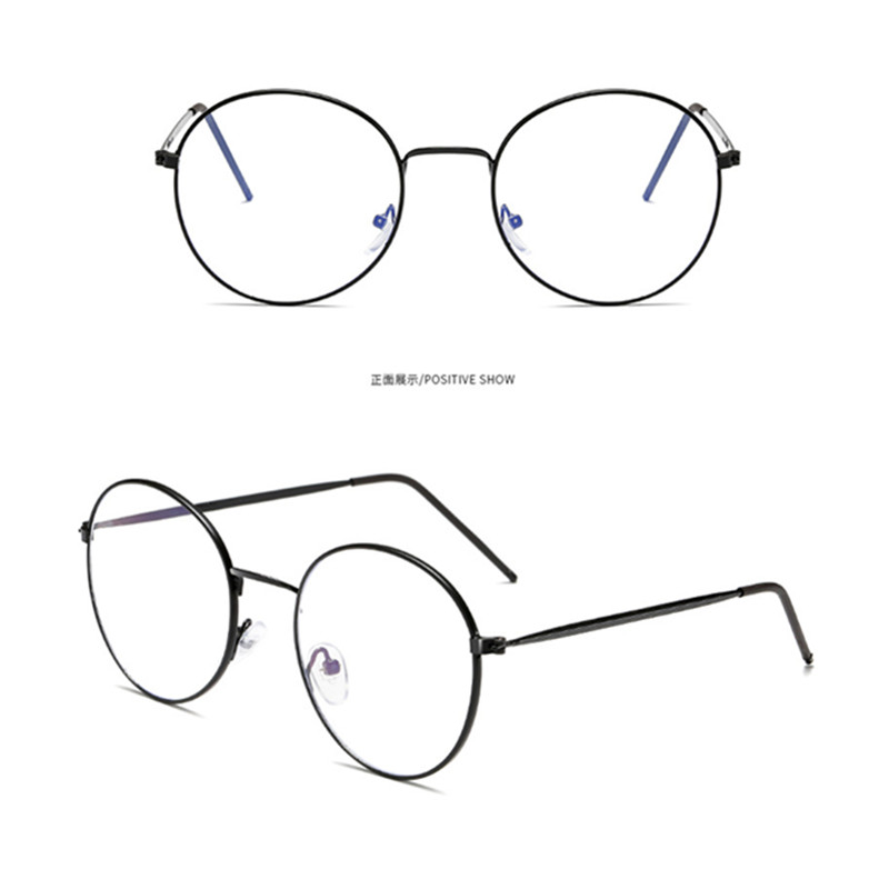 New Anti Blue Light Anti Blocking Filter Glasses Fashion Women Mens Computer Goggles Retro Metal Transparent UV400 Eyewear