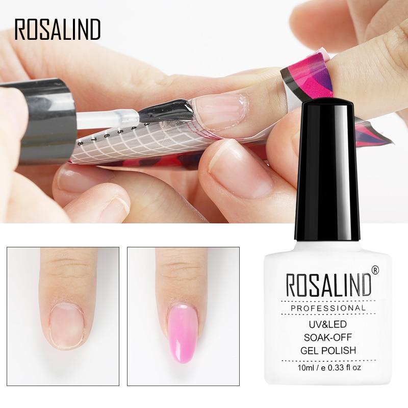 ROSALIND Poly Gel Nail Polish Quick Builder Gel Varnishes For Nail Art Extension Primer Top Coat Vernis Semi Permanent
