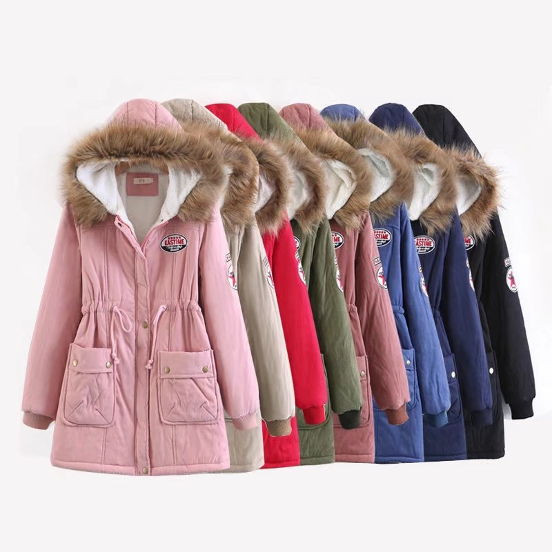 ZOGAA Winter Cotton Coat Women Slim Snow Outwear Medium-long Wadded Jacket Thick Padded Warm Parkas 8 Colors Parka