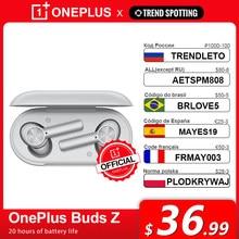Globalna wersja OnePlus Buds Z bezprzewodową słuchawką OnePlus oficjalny sklep TWS Bluetooth 5 szybkie ładowanie IP55 dla OnePlus 9 9Pro 9R 8T