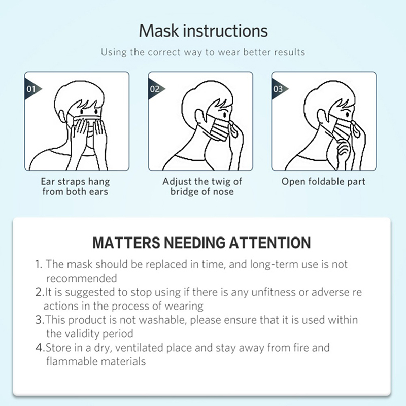 Image 5 - Disposable Masks 3 Layers Protective Mask for the Face Mouth Cover Meltblown Filter Mouthmask Respirator Flu Facial MasksMens Masks   -