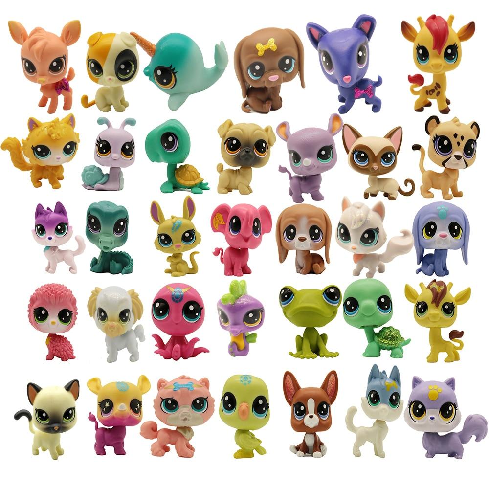 Купите 5 и получите 2 подарка, 4-5 см, старая игрушка свободного покроя для домашних животных, фигурка кота, щенка, мини-фигурки, классические м...