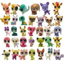 Comprar 5 obter 2 presentes 4-5 cm solto velho pet shop brinquedos gato filhote de cachorro figura mini figuras de brinquedo clássico pequenos brinquedos para animais de estimação