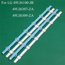 Substituição da peça da iluminação da tevê do diodo emissor de luz para lg 49uj6100-jb 49uj6307-za 49uj6309-za barra conduzida luz de fundo tira linha régua v1749l1 2862a