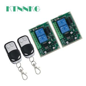 DC12V 2CH RF беспроводной пульт дистанционного управления 2-кнопочный передатчик + приемник 433 МГц подходит для гаража, управления доступом