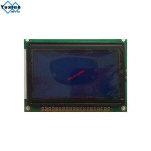 Image 3 - شاشة الكريستال السائل شاشة 12864 128*64 الأزرق الأبيض 75x52.7 سنتيمتر 5v S6B0107 نصف أو حفرة الكامل LCM12864D V1.0 بدلا WG12864B AC12864E