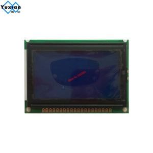Image 3 - lcd display screen  12864 128*64 blue white 75x52.7cm 5v S6B0107 half or full hole LCM12864D V1.0 instead  WG12864B AC12864E