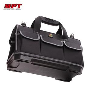 Image 1 - Вместительная сумка для инструментов, органайзер для инструментов, мужская дорожная сумка с ремнем через плечо, гаечный ключ, набор инструментов, плотницкая сумка рюкзак электрика