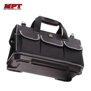 Image 1 - Grande capacité sac à outils matériel organisateur bandoulière ceinture hommes sacs de voyage clé à outils électricien charpentier sac à main sac à dos