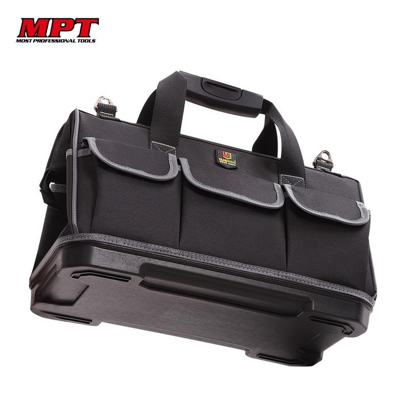Large Capacity Tool Bag Hardware Organizer Crossbody Belt Men Travel Bags Spanner Toolkit Electrician Carpenter Handbag Backpack