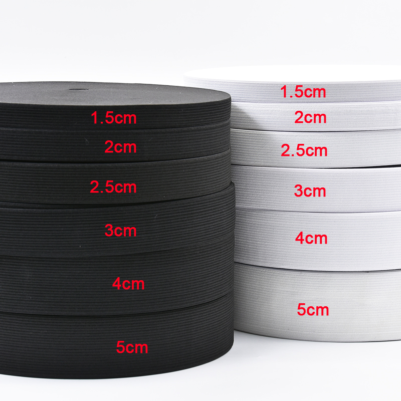 Wholesale 40Yards Elastic Rubber Band Clothing Accessories Nylon Webbing Garment Sewing Accessories Width 1.5cm 2cm 3cm 4cm 5cm
