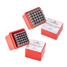 36Pcs Steel Metal Punch Letter Number Stamp Stamping Kit Set With Case Perfect for Imprinting Metal Plastic Wood Leather New