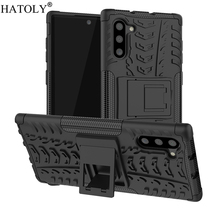 For Samsung Galaxy Note 10 Case Rubber Silicon Armor Hard PC TPU Phone Cover for
