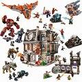Супер Герои совместимые Legoinglys Ironman халкбастер Marvel Мстители Бесконечность войны 76104 строительные блоки кирпичи игрушки Детский подарок
