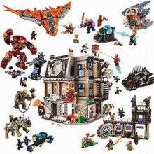 Enlighten Совместимость Enlighten Ironman халкбастер Marvel Мстители Бесконечность война 76104 строительные блоки кирпичи игрушки Детский подарок