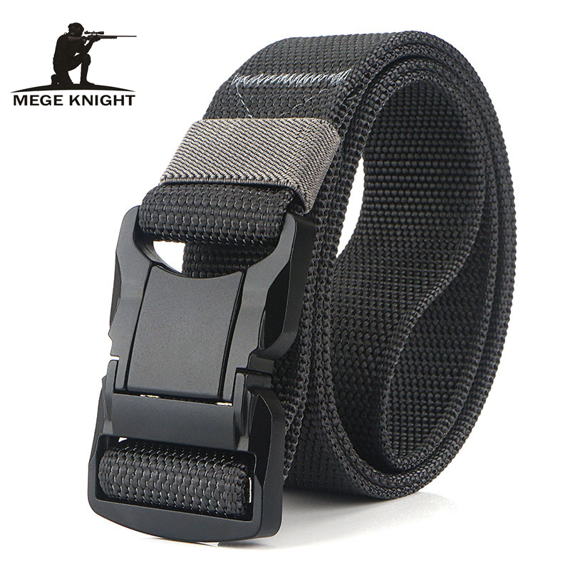 MEGE Tactical Belt Solid Military Accessories Army Airsoft Tactical Gear Outdoor Nylon Heavy Duty Durable Belt Dropshipping