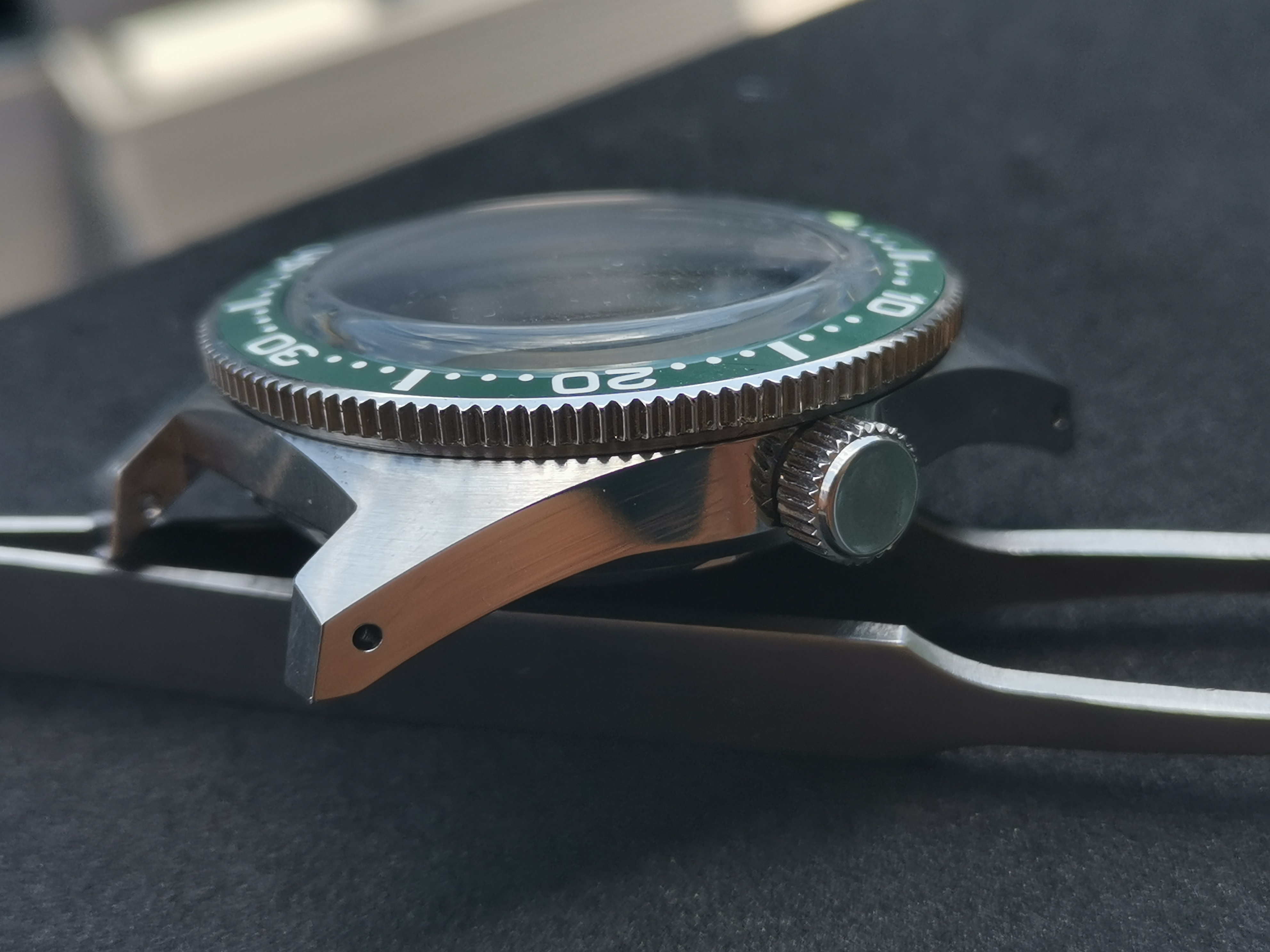 Mod 316L Stainless Steel mineral  Crystal 62MAS Ceramic Bezel 300M Water Resistance Watch Case Fit pFor NH35A/NH36A Automatic Mo
